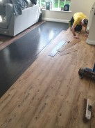 Another Luvanto vinyl tile installation using there cost affecting underlay for easy installation