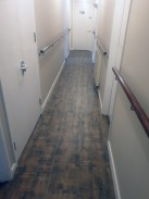 Final pic of clean hard wearing Luvanto LVT installed to this care home