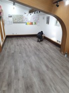Luxury vinyl tiles installed on new self adhesive underlay save on preparation costs