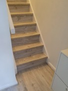 Laminate fitted to stairs
